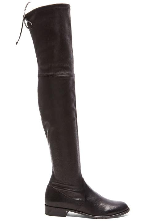 stuart weitzman lowland leather over the knee boot light