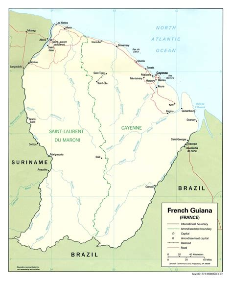 french guiana capital map images