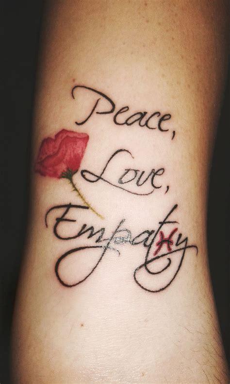 tattoo peace love empathy best 25 kurt tattoo ideas on pinterest