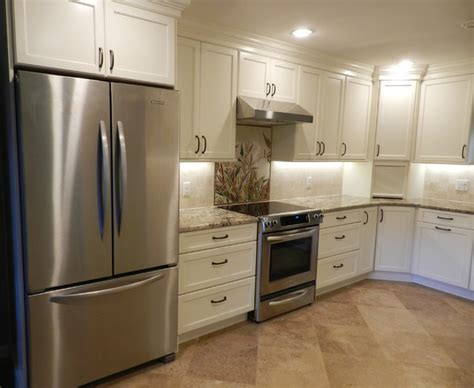 Soft White Kitchen Cabinets Soft White Cabinets Traditional Kitchen Jacksonville