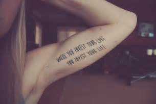 You invest your love you invest your life best tattoo design ideas