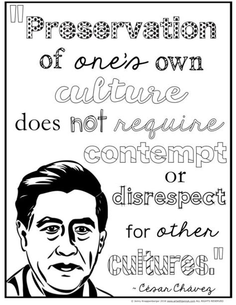 Coloring And Cesar Chavez On Pinterest Free Cesar Chavez Coloring Page