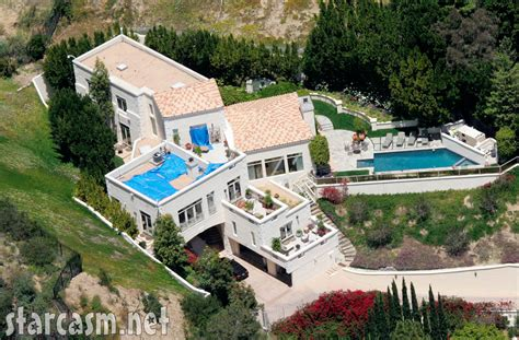 celebrity homes photos aerial photo of brittany murphy s los angeles home taken