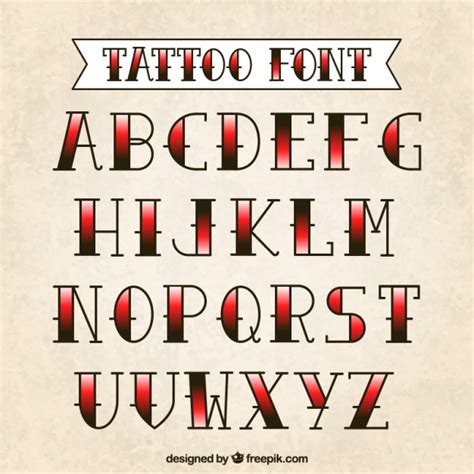 Tattoo Font Vector | tattoo typography vector free download
