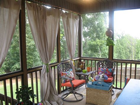screened in porch curtains drop cloth curtain tutorial for the screened in patio