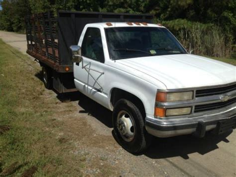 how do cars engines work 1994 chevrolet 3500 electronic valve timing buy used 1994 white chevy 3500 dually work truck w flat bed w remove sides in chesapeake