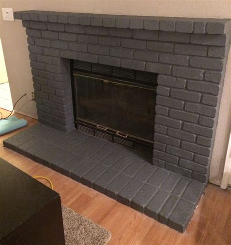 seven ty six easy steps to paint a brick fireplace hey