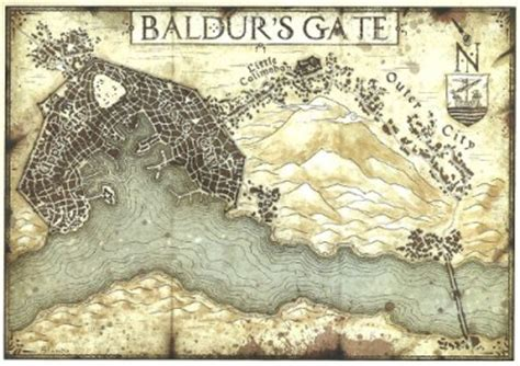 baldur s gate map sword coast adventurer s guide review tribality
