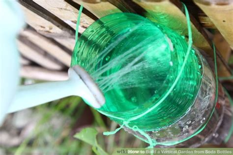 how to build a vertical garden from soda bottles with