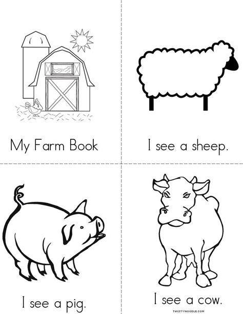 printable animal book farm book twisty noodle