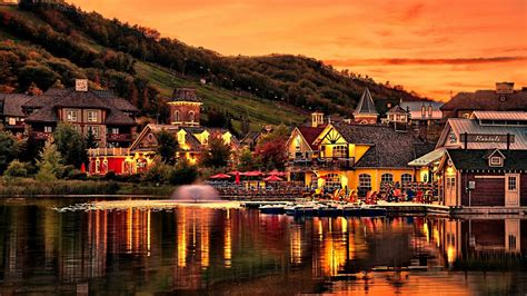 A Quaint Village Wallpaper and Background Image   1366x768