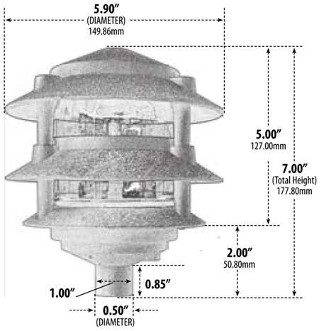 3 tier pagoda light 120v cast aluminum 3 tier pagoda pathway area light d5000