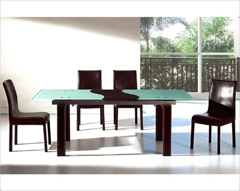 two tone dining room sets modern two tone expandable dining set european design