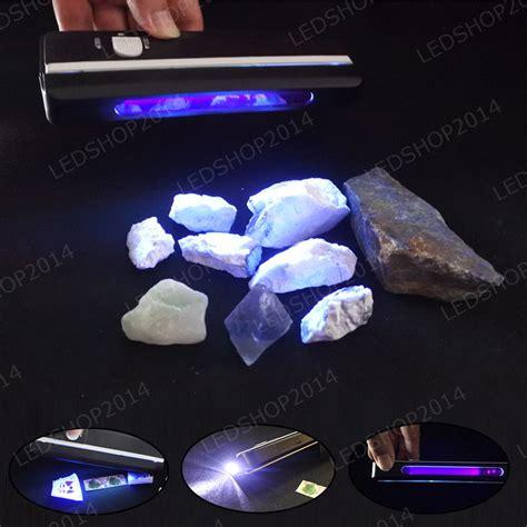 short and long wave uv light 254nm handheld short wave phosphor minerals detection uv