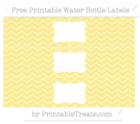 printable labels yellow pastel yellow chevron diy water bottle labels printable