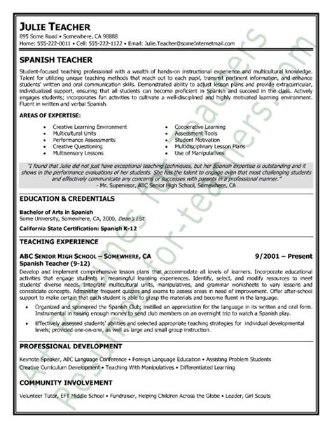 model resumes for teachers 108 best images about and principal resume sles