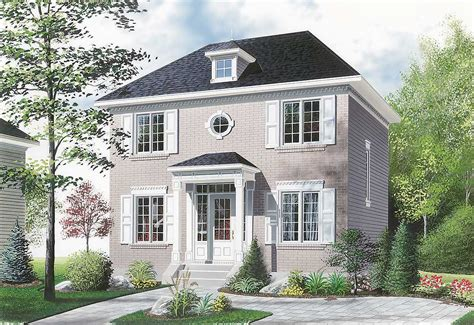 cheap 2 story houses compact two story house plan 21004dr 2nd floor master
