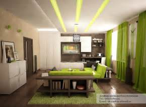 Decoration Homes Green White Decor Interior Design Ideas