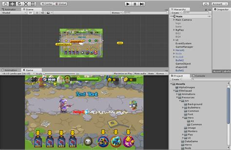 unity tutorial step by step unity 2d ui button animation make new game learn