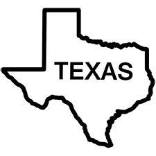 Amazon.com: Texas State Outline, Vinyl Car Decal, 'Red
