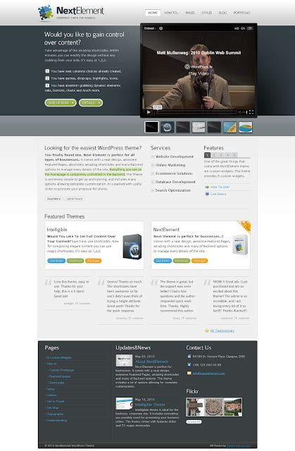 themeforest it company theme nextelement business theme by themeforest free
