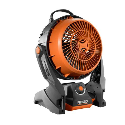 battery fans for home ridgid 18 volt gen5x hybrid fan tool only r860720b the