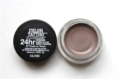 color tattoo ointment maybelline color tattoo cream eyeshadow in quot tough as taupe