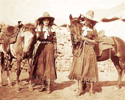 old west old west cowgirls vintage photo buffalo bills wild west