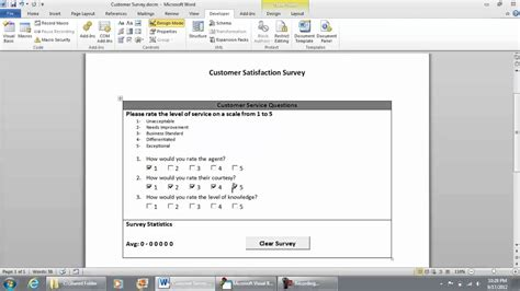 excel 2010 survey template vb macro code for checkbox functional checklist survey
