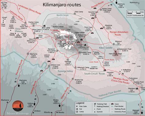 africa map kilimanjaro kilimanjaro national park