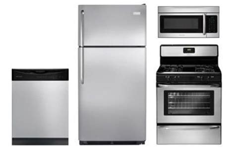 stainless steel kitchen appliance package deals frigidaire stainless steel kitchen appliance packages