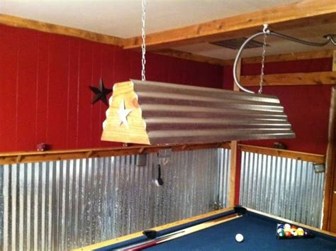 cool pool table light that my husband made diy