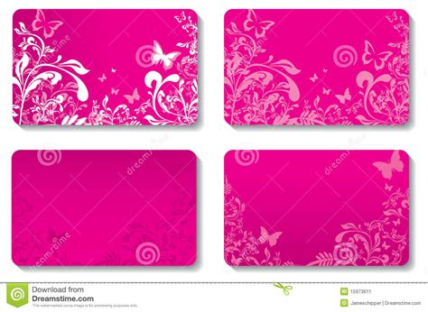 The Girly Spot Audio by Floral Business Cards Stock Image Image 15973611