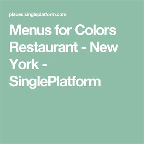 colors restaurant nyc 13 best nyc gf images on glutenfree new york