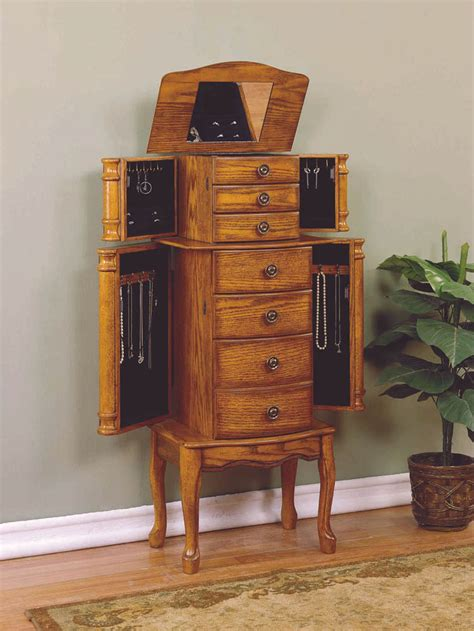 woodland oak jewelry armoire jewelry armoire woodland oak 604 315 decor south