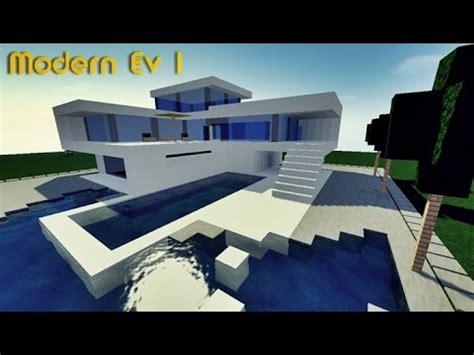 minecraft modern ev yapımı 1