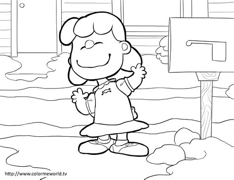 Peanuts Woodstock Coloring Pages