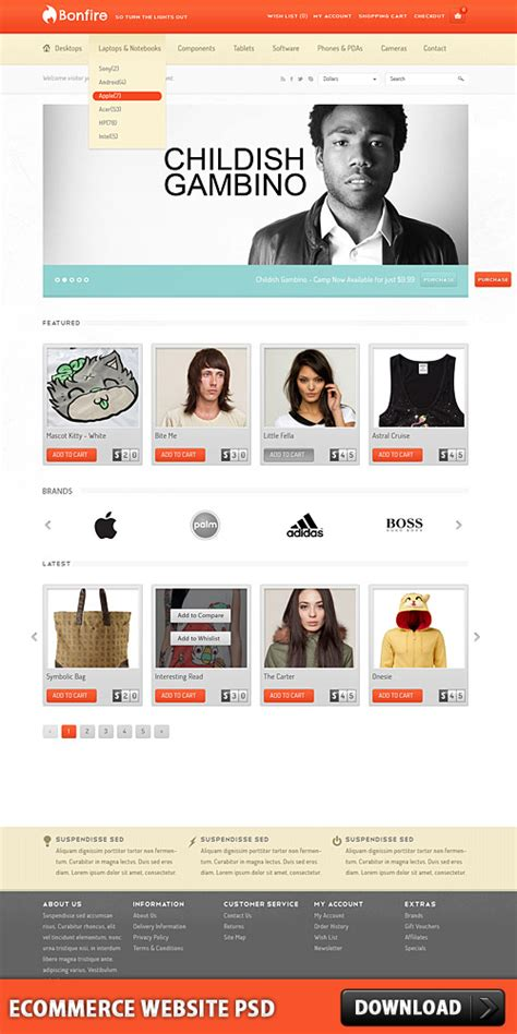 Ecommerce Website Free Psd Download Download Psd Free Ecommerce Website Templates Shopping Cart