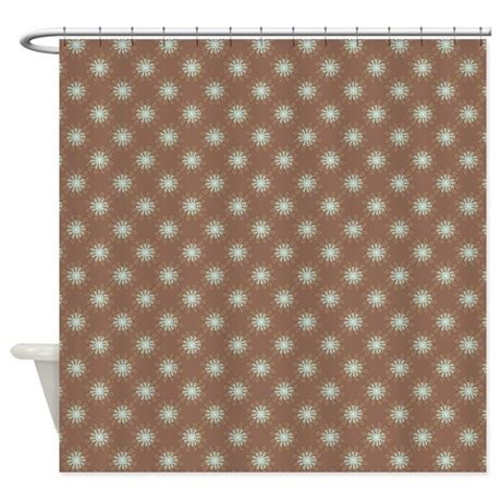 brown blue shower curtain flower loop blue brown shower curtain by admin cp45405617