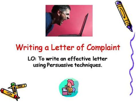 Complaint Letter Ppt Writing Letter Of Complaint Authorstream