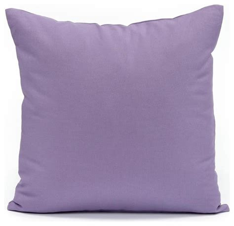 Modern Accent Pillows Solid Lavender Throw Pillow Cover Modern Decorative