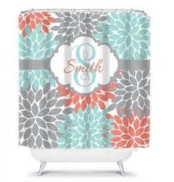 coral shower curtain foter