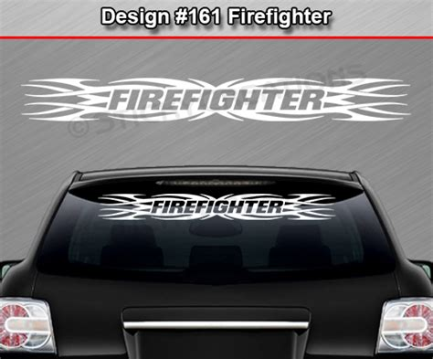design windshield banner 161 firefighter tribal flame windshield decal window
