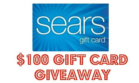 Sears Giveaway - sears 100 gift card giveaway southern savers