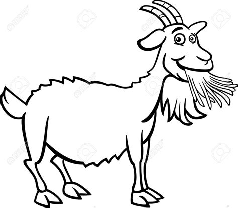cartoon goat coloring page goat clipart tail pencil and in color goat clipart tail