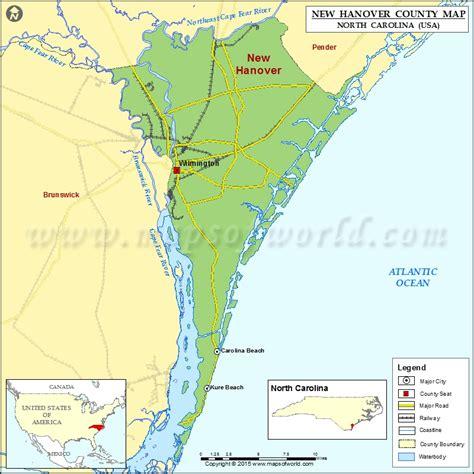 map usa hanover new hanover county map carolina