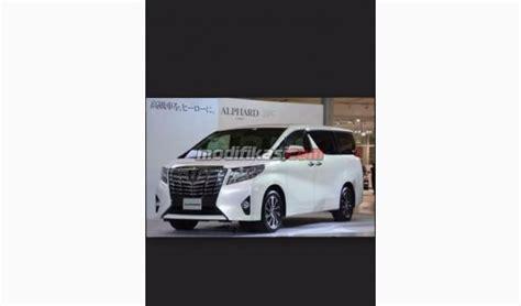 Toyota Alphard 2 5 X 2016 2016 toyota alphard 2 5 x a t kredit bisa hub anggie