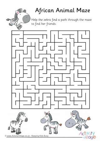 Maze Puzzle Parents Of The Animal animal mazes