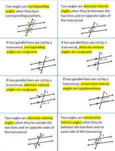 parallel lines cut by a transversal geometry pinterest