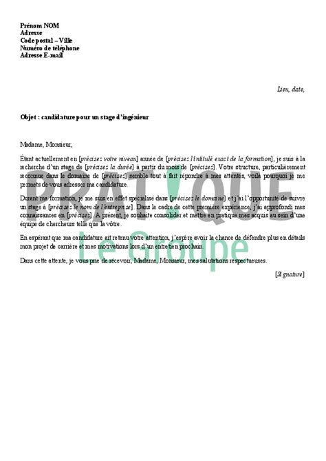 Lettre De Motivation Stage Finance D Entreprise lettre de motivation stage fin d 233 tude pictures to pin on
